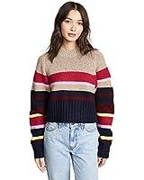 Current/Elliott Women's The Moonshine Sweater, Brown & Multi, 3