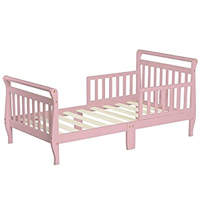 Dream On Me Classic Sleigh Toddler Bed, Blush Pink (642-P)