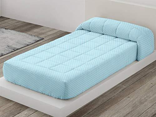 Camatex - Edredón Ajustable Topo Cama 105 - Color Azul