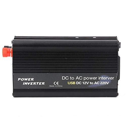 J-Love 3000W DC 12V/24V a AC 100V-120V/220V-240V Inversor Cargador USB Convertidor de energía Negro