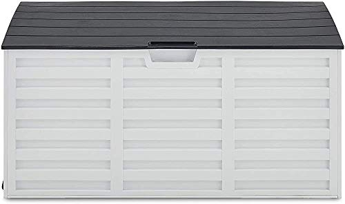 Garden Storage Boxes Weatherproof Outdoor Plastic Furniture, Toys, Tools of Large Storage shed Spill,260L