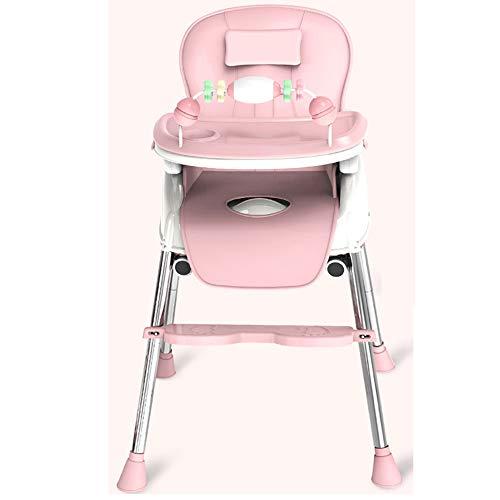 ZCFXGHH Baby-multifunctionele hoge stoel, opvouwbaar tafeltje, draagbare kindereetkamerstoel, verstelbare babyeettafel