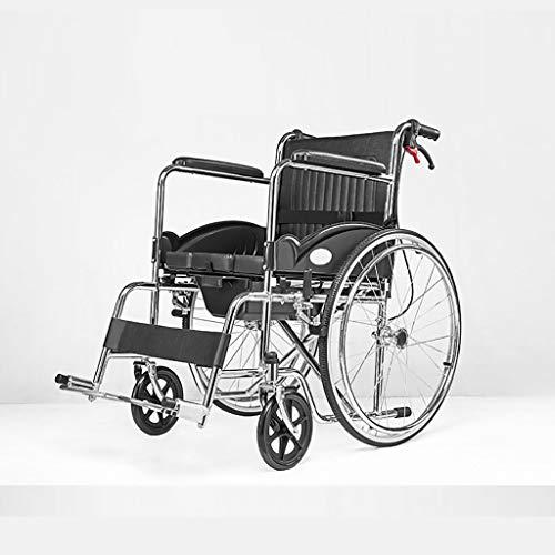 HE-XSHDTT Silla De Ruedas Plegable Autopropulsada con Cómoda Silla Acolchada para Discapacitados Ancianos Atención Médica
