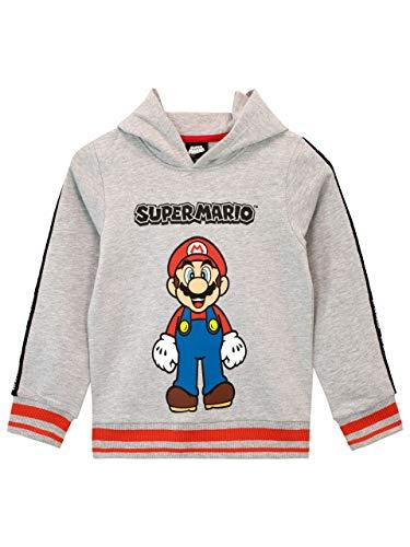 Unbekannt Super Mario Jungen Kapuzenpullover Grau 110