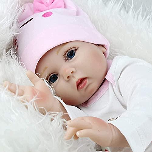 HRYEOY Reborn Baby Dolls 22 inch 55 cm Toddler Girl Soft Vinyl Silicone...
