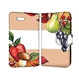 anve iPhone6Plus iPhone 6 Plus 国内生産 カード スマホケース 手帳型 Apple アップル アイフォン シックスプラス 【D.オレンジ】 洋梨 秋 食 best_vc-951
