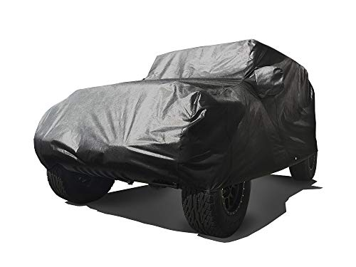 CarsCover Custom Fits 2004-2021 Jeep Wrangler Unlimited JK JL 4 Door Sport/Sahara/Rubicon SUV Wagon Car Cover Heavy Duty All Weather Ultrashield Black Covers