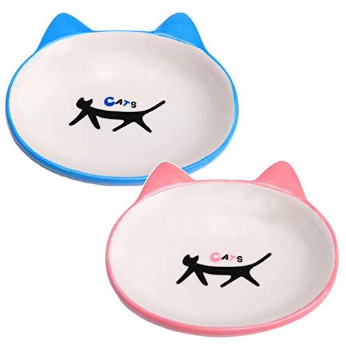 【 子猫にピッタリ 】iikuru 子猫 食器 陶器 可愛い 猫用 餌入れ 水飲み 猫 水入れ 皿 ねこ 水 えさ 入れ ペット ネコ フード ボウル 2個 セット y291