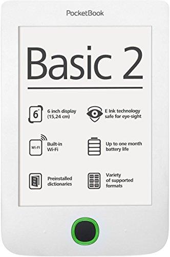 PocketBook PB614W-D-WW - Lettore e-book (Intel Atom, 0,256 GB di RAM), colore: Bianco