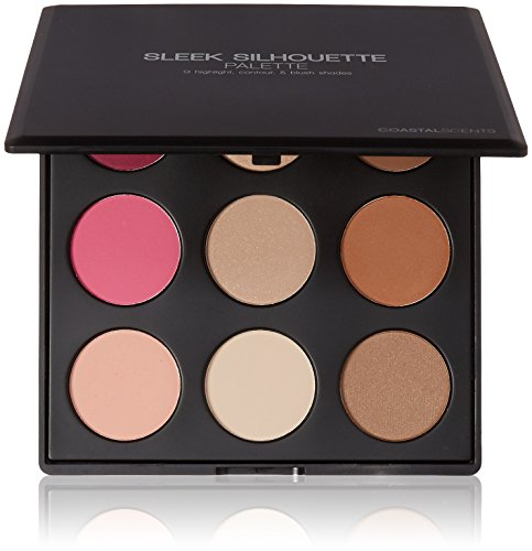 Coastal Scents Sleek Silhouette Blush, Highlighter, and Bronzer Palette (PL-017)