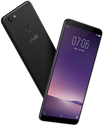 "New Vivo V7+ Unlocked Dual SIM (4G+4G) 5.99"" Fullview Display- 4GB RAM- 16MP Primary+24MP Front Facing Camera- BLACK- 64GB"