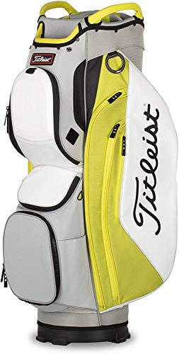 Titleist - Cart 15 Golf Bag - Gray/Citron/White