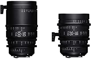 Sigma 18-35mm T2 & 50-100mm Cine High-Speed Zoom Lenses for Canon EF with Case
