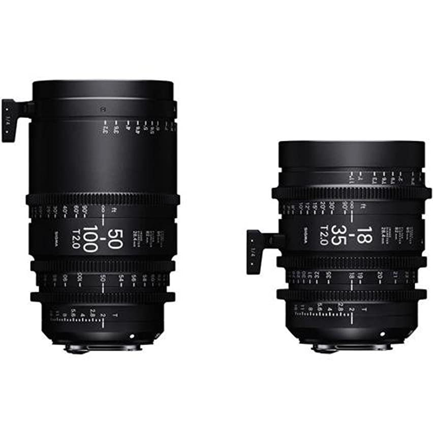 Sigma 18-35mm T2 & 50-100mm Cine High-Speed Zoom Lenses for PL Mount with Case
