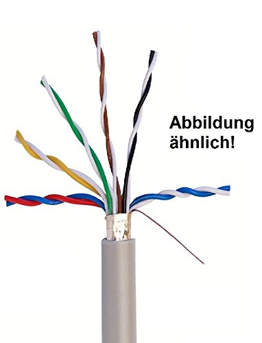 Fernmeldeleitung Telefonkabel J-Y(St) Y 6x2x0,6 mm geschirmt mit Beidraht - Meterware auf den Meter genau - KOSTENLOSER VERSAND - Auswahl in 1 Meter Schritten (Meter/Längen siehe Mehrfachauswahl)