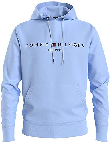 Tommy Hilfiger Tommy Logo Hoody Sudadera con Capucha, Azul Dulce, S para Hombre
