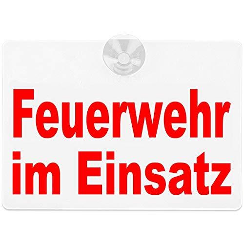 PACO Deutschland e.K. Warnschild Feuerwehr im Einsatz 20x15cm weiß