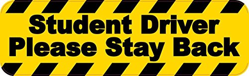 StickerTalk Student Driver Please Stay Back Magnet, 10 inches by 3 inches