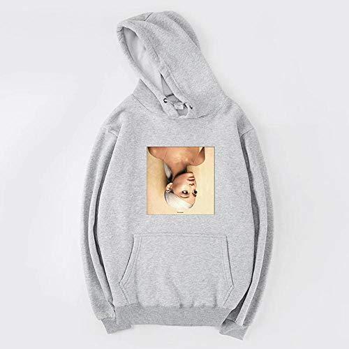 Moda Ariana Grande Trend Series Suéter Holgado con Capucha para Hombres y mujeresSudadera de Mujer con Bolsillos con cordón Adolescentes