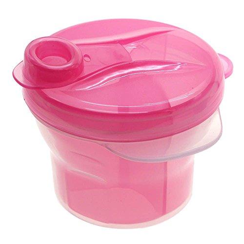 VANKER Distributeur de lait en poudre 3 couches rotatif pour bébé enfant Rose