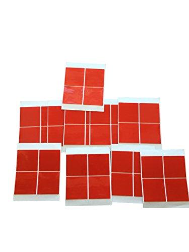 40x 50x50mm DOPPELSEITIGE KLEBE-Flächen – Montage Pad – Klebe Quadrate Sticky TAPE EXTRA STARK – für Bau Werkstatt Hobby – einfaches montieren DOPPEL-KLEBEBAND – 1mm Acryl Schicht – PROFI