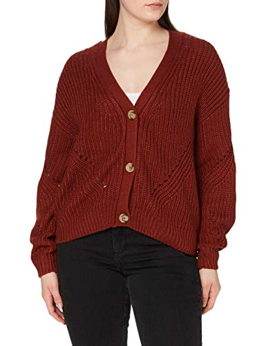 New Look Chunky Button 5875163 suéter, Marrón (Rust 25), 40 (Talla del Fabricante: 52) para Mujer