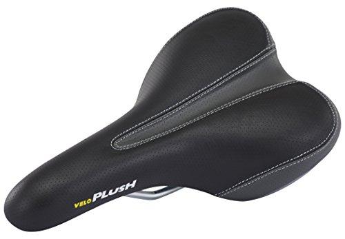 Velo Plush Foam Sillín de Bicicleta, Hombre, Negro