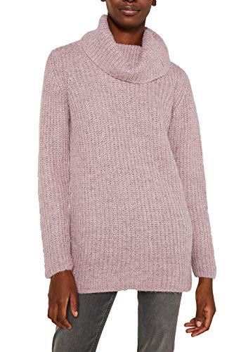 ESPRIT Damen 119EE1I009 Pullover, Violett (Dark Mauve 5 544), X-Large (Herstellergröße: XL)