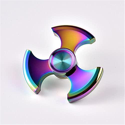 KLFJFD Color Gran Aleación Ternaria Duradera Dedo Spinner EDC Adulto Aliviar La Fatiga Dedo Spinner Spinner TDAH Autista Niños Juguete De Regalo De Cumpleaños