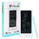 Haowecib Tableta de Escritura del LCD, Tablero del Doodle del LCD de la Forma del teléfono, niños plásticos portátiles electrónicos para los niños(Blue)