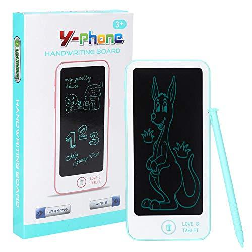 Sora Tablero LCD para garabatos, Tableta de Dibujo LCD de plástico con protección para los Ojos, Dibujo electrónico para estudiar a niños pequeños para niños escribiendo(Blue)