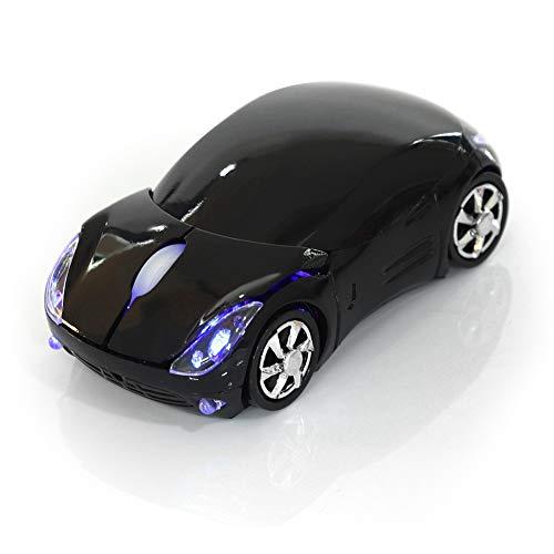 Kabellose Bluetooth-Maus, 2,4 GHz, optische Maus, tragbar, 1600 DPI, für Mac/Android/Me/PC Windows/Tablet Gaming Office (schwarz)