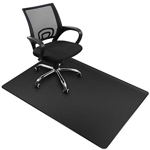 Alfombrilla protectora para el suelo, para silla de oficina, 90 x 120 cm, suelo duro, versión mejorada, alfombra multiusos para el hogar (negro, 120 x 90 cm)