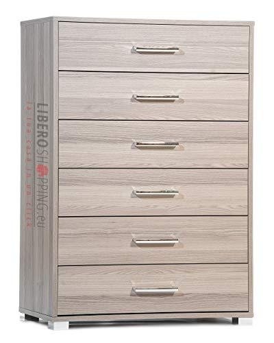 LIBEROSHOPPING.eu - LA TUA CASA IN UN CLIK Mobile cassettiera 6 cassetti Grandi cm 81x44x118H (Larice Grigio)