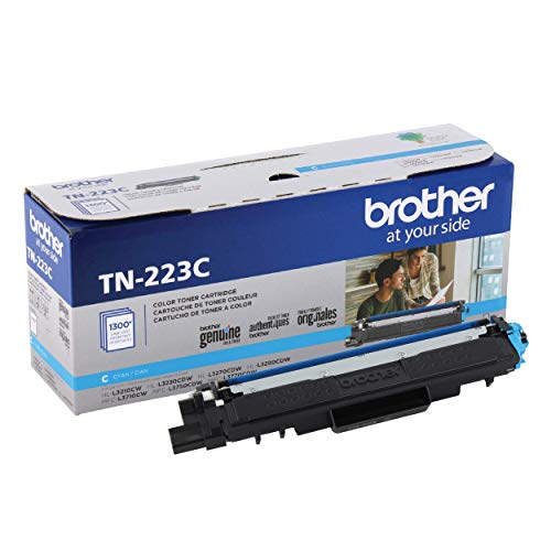 Brother Genuine TN223C, Standard Yield Toner Cartridge, Replacement Cyan Toner, Page Yield Up to 1,300 Pages, TN223, Amazon Dash Replenishment Cartridge