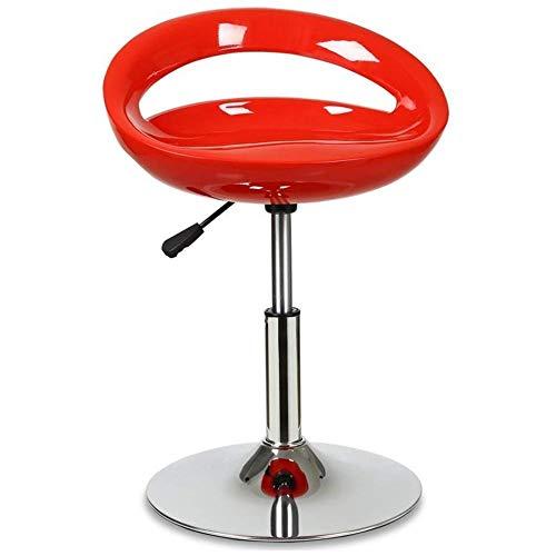 Moderne verstelbare zwenkarruk 360 ° vrije rotatie hoge stoel vrijetijdsbarkruk barkruk voor woonkamer keuken restaurants cafés bars rood