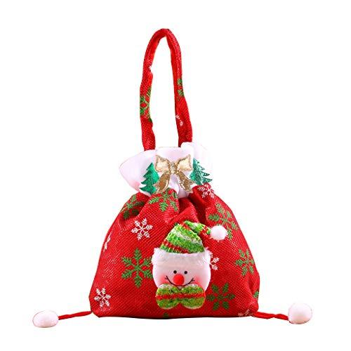 Christmas Santa Snowman Decorative Gift Bag for Candy Stocking Filler