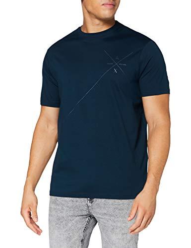 Armani Exchange Mens T-Shirt, Light Navy, XL