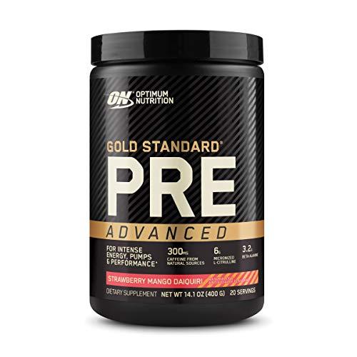 Optimum Nutrition Gold Standard Pre Workout Advanced, with Creatine, Beta-Alanine, Micronized L-Citrulline and Caffeine for Energy, Keto Friendly, Strawberry Mango Daiquiri, 20 Servings
