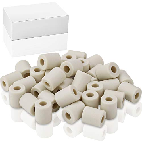 Effektive Mikroorganismen I 90g EM-Keramik Pipes grau für Hundehalsband zum selber machen I Keramikperlen für Wasserkrug I Perlen für Halsband Hund Wasser
