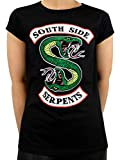 Riverdale Camiseta para Southside Serpent Mujer Negro Small