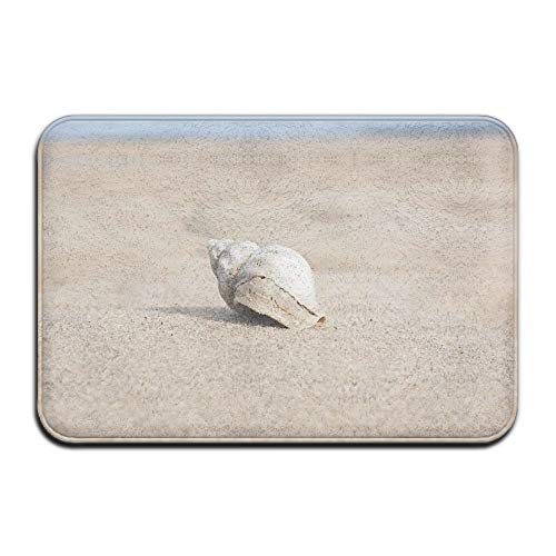 Non Slip Door Mat Outdoor,Decorative Garden Office Bathroom Door Mat with Non Slip, Entry Way Door Mat Rug with Non Slip Backing Whelk Indoor Doormat for Kitchen,Bath,Pet