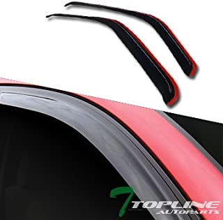 Topline Autopart In-Channel Guard Smoke Vent Shade Window Visors 2P For 93-11 Ford Ranger/B2300 B2500