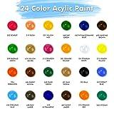 Immagine 1 ascozy 24 colori acrilici per