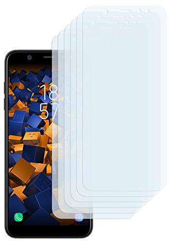 mumbi Schutzfolie kompatibel mit Samsung Galaxy A6+ Folie klar, Bildschirmschutzfolie (6X)
