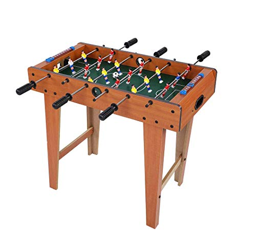 Affordable Sxfcool Football Table, 27-Inch Large Deluxe Free Standing Soccer Football Table Game with Legs Family Game Size 69 X 62 X 37Cm