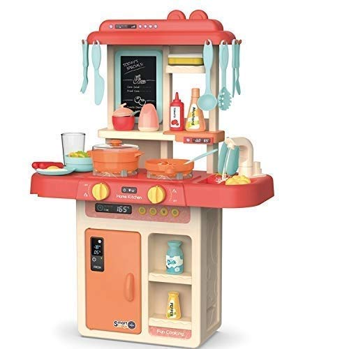 Shree Ganesh 36 Piece Kitchen Play Set with Lights & Sound for Girls, Big Size Remote Control Kitchen Toy Set for Kids Girls (Fashion Kitchen Set for Girls)