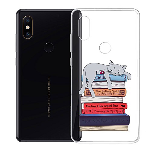 LJSM Funda Xiaomi Mi Mix 2S Carcasa Flexible Ultra Slim Transparente Crystal Clear Soft Silicona TPU Gel Suave Caso de Flexible Carcasa Back Bumper Case Skin Cover para Xiaomi Mi Mix 2S (5.99