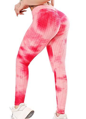 INSTINNCT Damen Slim Fit Hohe Taille Sportshort Lange Leggings mit Bauchkontrolle Rosa Mix XL