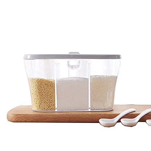 Spice opslag keuken combinatie drie-compartiment opbergdoos flip plastic kruiden box kruiden box combinatie set…